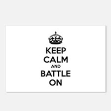 Keep calm and battle on Postcards (Package of 8)