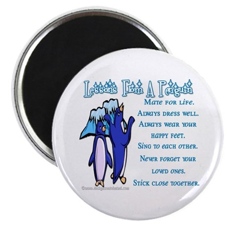 """Lessons from a penguin 2.25"""" Magnet (100 pack)"""