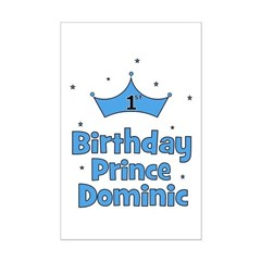 1st Birthday Prince DOMINIC! Posters
