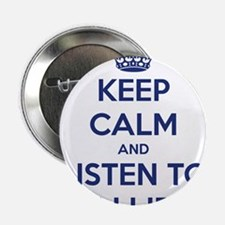 """'KEEP CALM AND LISTEN TO ELI LIEB' t-shirt 2.25"""" B"""