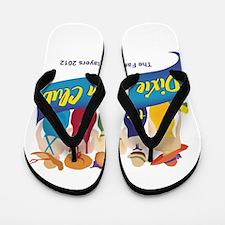 Dixie Swim Club Logo Flip Flops