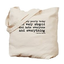 Poorly today Tote Bag
