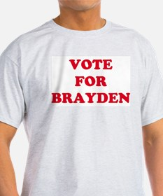 VOTE FOR BRAYDEN  Ash Grey T-Shirt