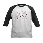 Red and Blue Stars Kids Baseball Jersey