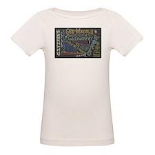 Chalkboard Wordle Organic Baby T-Shirt