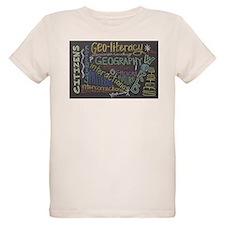 Chalkboard Wordle Organic Kids T-Shirt