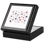 Red and Blue Stars Keepsake Box