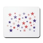 Red and Blue Stars Mousepad