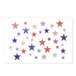 Red and Blue Stars Postcards (Package of 8)