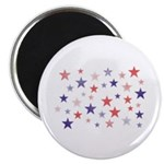 Red and Blue Stars Magnet
