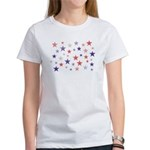 Red and Blue Stars Women's T-Shirt
