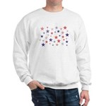Red and Blue Stars Sweatshirt