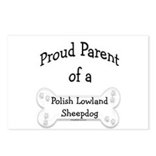 Proud Parent Polish Lowland Sheepdog Postcards (Pa