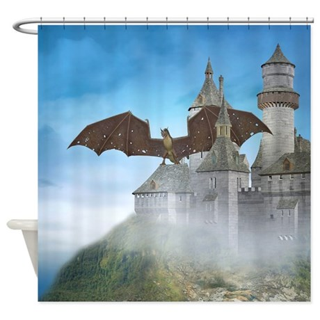 Dragon Castle Shower Curtain