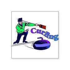 "curling.jpg Square Sticker 3"" x 3"""