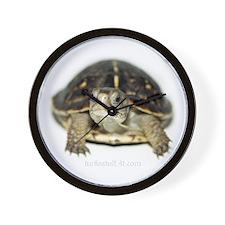 Ornate Box Turtle Hatchling Wall Clock