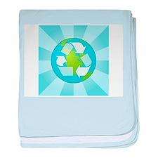 blue recycle.jpg baby blanket