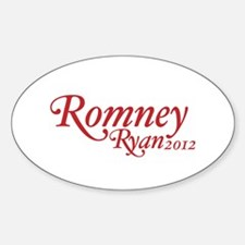 Romney Ryan 2012 Sticker (Oval)