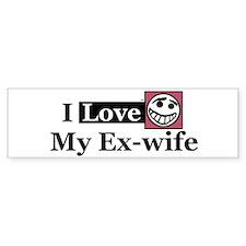 I Love My Ex-wife Bumper Bumper Sticker