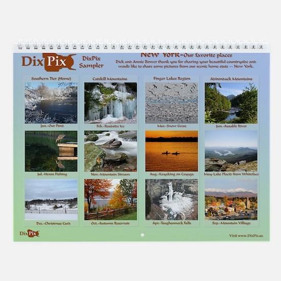 Dixpix Sampler Wall Calendar