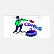 curling.jpg Aluminum License Plate