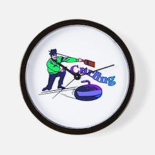 curling.jpg Wall Clock