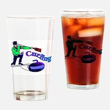 curling.jpg Drinking Glass