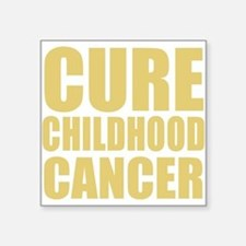CURE CHILDHOOD CANCER Rectangle Sticker
