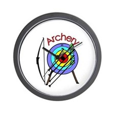 archery2.jpg Wall Clock