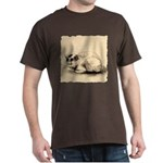 Domestic Cat Japanese Ink Drawing Dark T-Shirt