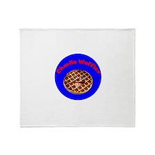 Cute Charlie waffles Throw Blanket