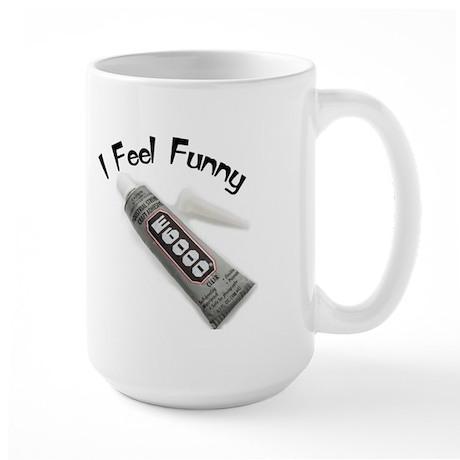 feel funny.jpg Large Mug