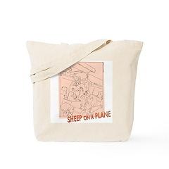Sheep On a Plane Knitting Bag