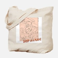 Sheep On a Plane Knitting Bag