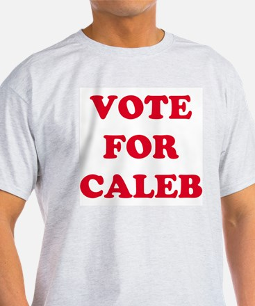 VOTE FOR CALEB  Ash Grey T-Shirt