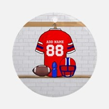 Personalized Football Grid iron jersey Ornament (R