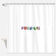 VOLLEYBALL3.jpg Shower Curtain