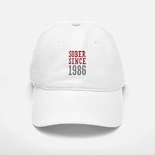 Sober Since 1986 Baseball Baseball Cap