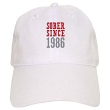 Sober Since 1986 Baseball Cap