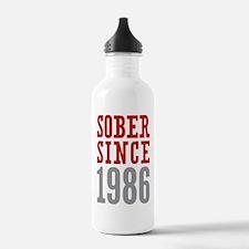 Sober Since 1986 Water Bottle