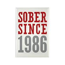 Sober Since 1986 Rectangle Magnet (10 pack)