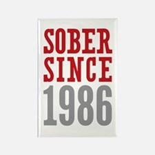 Sober Since 1986 Rectangle Magnet