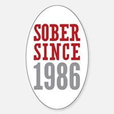 Sober Since 1986 Decal