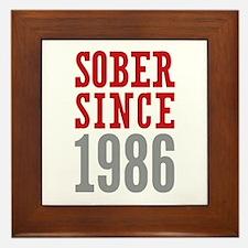 Sober Since 1986 Framed Tile