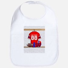 Personalized grid Iron Football jersey Bib