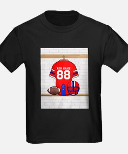 Personalized grid Iron Football jersey T