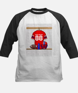 Personalized grid Iron Football jersey Tee