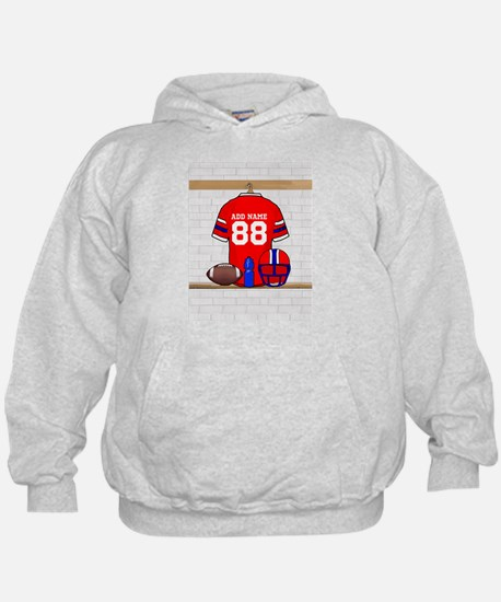 Personalized grid Iron Football jersey Hoodie
