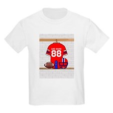 Personalized grid Iron Football jersey T-Shirt