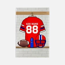 Personalized grid Iron Football jersey Rectangle M